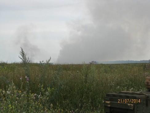 Наслідки роботи мінометників можна спостерігати по диму